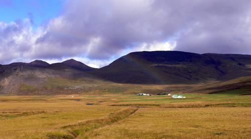 モスフェルスバイル郊外の虹